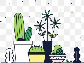 Vector Cactus - Cactaceae Euclidean Vector Pixel Raster Graphics PNG