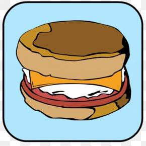 Breakfast - Breakfast Sandwich Fried Egg Peanut Butter And Jelly Sandwich Egg Sandwich English Muffin PNG