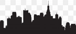Big City Silhouette Clip Art - New York City Skyline Silhouette Clip Art PNG