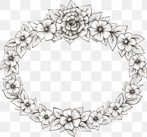 Picture Frames Drawing Photography Black And White Ornament PNG