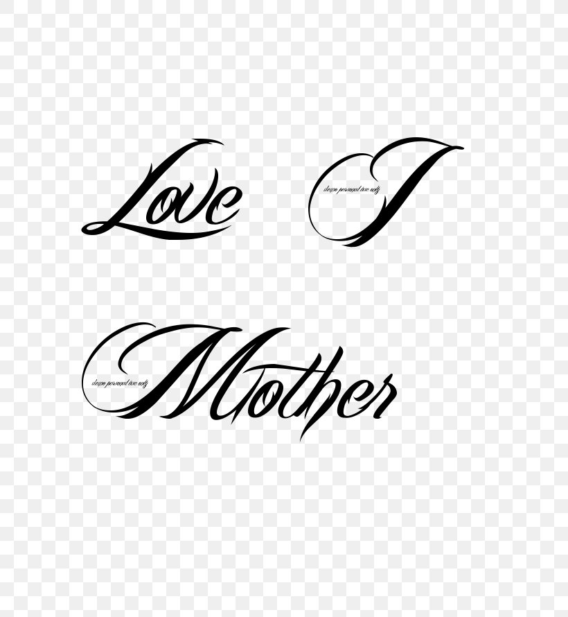 Tattoo Love Mother Heart Font Png 604x890px Tattoo Area Black Black And White Brand Download Free