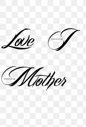 Images Of Love Tattoos - Tattoo Love Mother Heart Font PNG