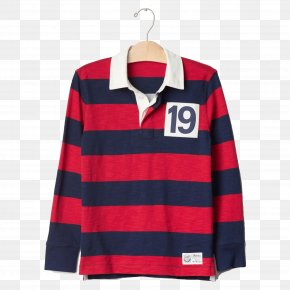 Wide Stripe Long Sleeve Polo Shirt - Long-sleeved T-shirt Polo Shirt Collar PNG