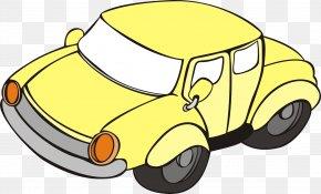 Yellow Cartoon Car Window - Cartoon Download PNG