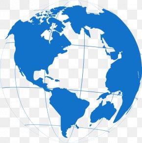 World Map - World Map Globe United States Of America PNG