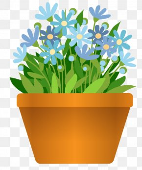 Flower Pot - Flowering Pot Plants Flowerpot Clip Art PNG