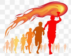 Olympic Torch - Torch Flame Fire Clip Art PNG