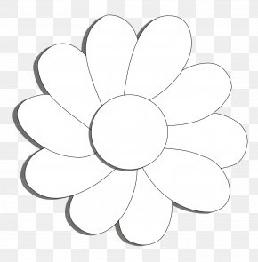 Daisy Flower Outline - Coloring Book Clip Art PNG