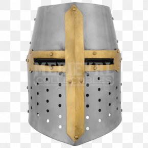 Knight - Crusades Great Helm Middle Ages Knight Helmet PNG
