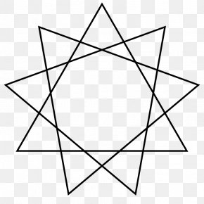 Polygon - Star Polygon Enneagram Regular Polygon PNG