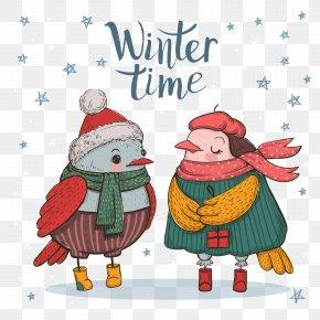 Vector Winter Winter Bird - Winter Clip Art PNG