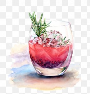 Watercolor Drinks - Cocktail Watercolor Painting Drink Drawing Illustration PNG