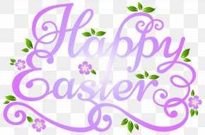 Deco Happy Easter Transparent Clip Art Image - Easter Bunny Clip Art PNG