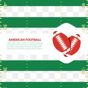 Vector American Football Game On A Green Background - Euclidean Vector American Football Poster PNG