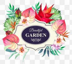 Creative Hawaiian Floral Flowers Headline PNG