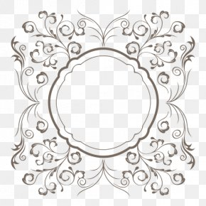 VICTORIAN AGE - Floral Design Picture Frames Drawing Clip Art PNG