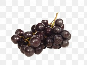 A String Of Purple Grapes - Kyoho Fruit Grape Food PNG