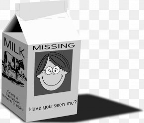 Milk - Photo On A Milk Carton Missing Person Clip Art PNG