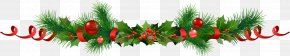 Christmas - Christmas Decoration Common Holly Panettone Garland PNG