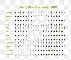 Moon - Lunar Phase Lunar Calendar Moon 0 PNG