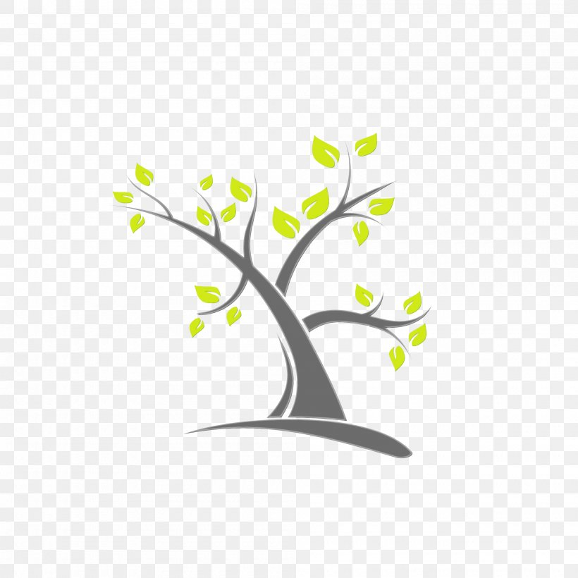 Branch Tree Leaf Logo Plant, PNG, 2000x2000px, Watercolor, Branch, Leaf, Logo, Paint Download Free