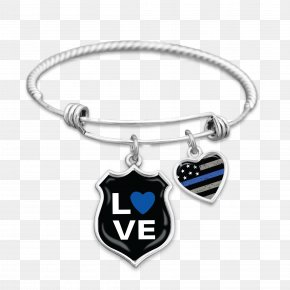 Police Line - Charm Bracelet Thin Blue Line Charms & Pendants Police Officer PNG