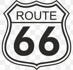 Route - U.S. Route 66 Sign Road Symbol PNG