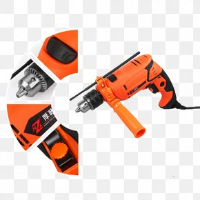 Hardware Tools Impact Drill - Hand Tool Angle Grinder Drill Toolbox PNG