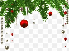 Christmas Hanging Ball Decoration Clipart Image - Christmas Decoration Christmas Ornament Christmas Tree PNG