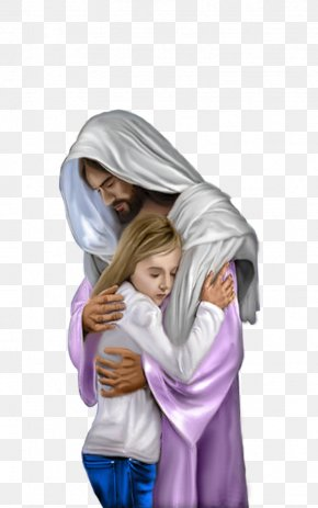 Jesus Christ - Hug Depiction Of Jesus Child Jesus PNG