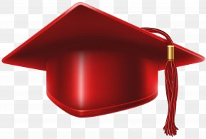 Red Graduation Cap Clip Art Image - Red PNG