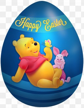 Kids Easter Egg Winnie The Pooh And Piglet Clip Art Image - Piglet Winnie The Pooh Eeyore Easter Bunny Tigger PNG