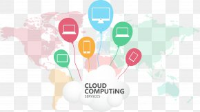 Vector Painted Cloud - Cloud Computing Data Information PNG