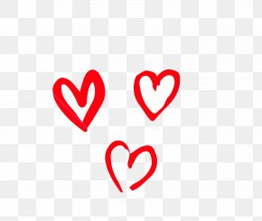 Red Heart-shaped Icon - Heart Emoji Valentine's Day Line PNG