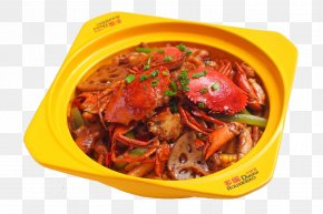 Yellow Container Catering Industry Meat Crab Pot - Crab Thai Cuisine Seafood Chinese Cuisine Meat PNG