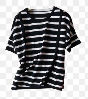 Taobao Women Striped - Sleeve T-shirt Coat PNG