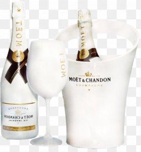White Wine Bottle - White Wine Champagne Moxebt & Chandon Bottle PNG