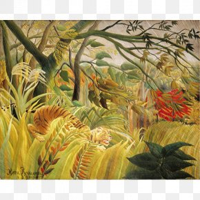 Painting - Tiger In A Tropical Storm National Gallery Exotic Landscape Painting Painter PNG