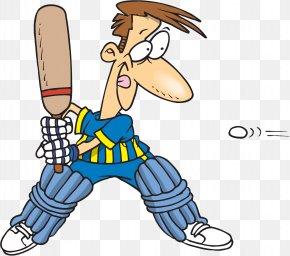 Cricket - Cricket Cartoon Batting Sport Clip Art PNG