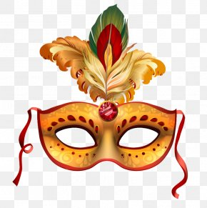 Dance Mask Feather Vector - Carnival Of Venice Mask Party PNG