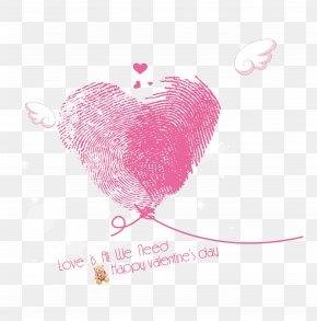 Fingerprint Heart-shaped Valentine's Day - Heart Valentine's Day Fingerprint Love PNG