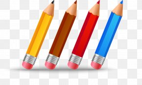 Cartoon Pencil - Palette Drawing Painting Clip Art PNG