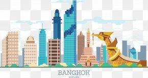 Thailand Siam Town Wat Sky Train - Thailand Siam Euclidean Vector PNG