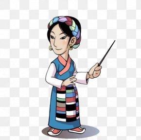 Tibetan Female Teacher - Garzxea Tibetan Autonomous Prefecture Tibetan People Clip Art PNG