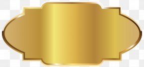 Golden Label Template Clipart Picture - Label DYMO BVBA Clip Art PNG
