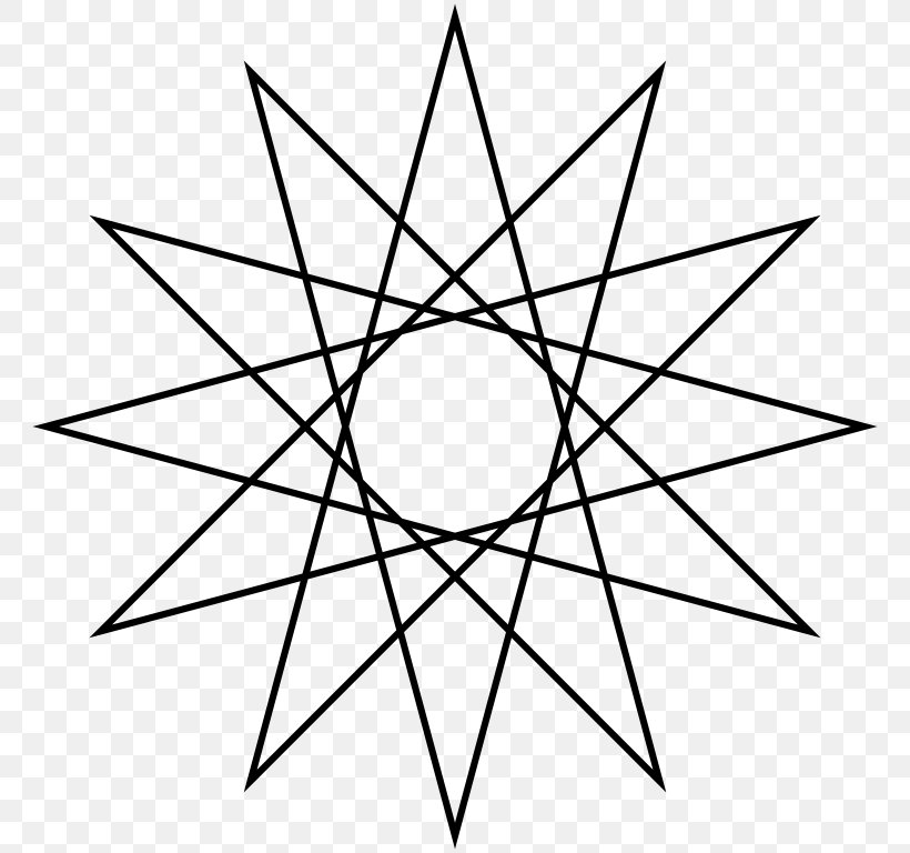 Star Polygon Regular Polygon Geometry Dodecagram, PNG, 768x768px, Star Polygon, Area, Black And White, Concave Polygon, Diagram Download Free