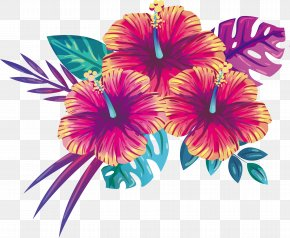Blooming Summer Flowers PNG