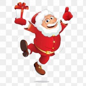Trolley Gift Santa Claus - Santa Claus Humour Clip Art PNG