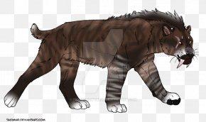 Sabertoothed Tiger - Tiger Lion Sabretooth Felidae Saber-toothed Cat PNG