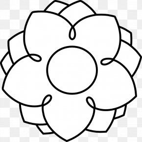 Black And White Flower Pics - Flower Black And White Clip Art PNG